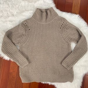 Lord & Taylor mock neck knit sweater S